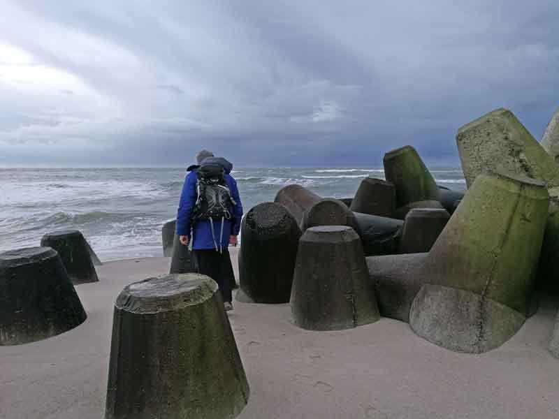 Bild 7 Zwischen den Wellenbrechern an der Südspitze von Sylt