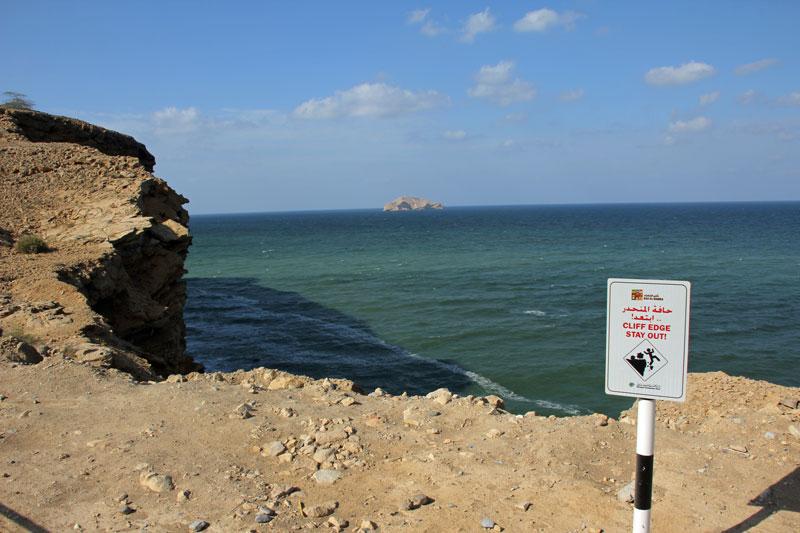 Blick von der Steilküste in Ras al Hamra