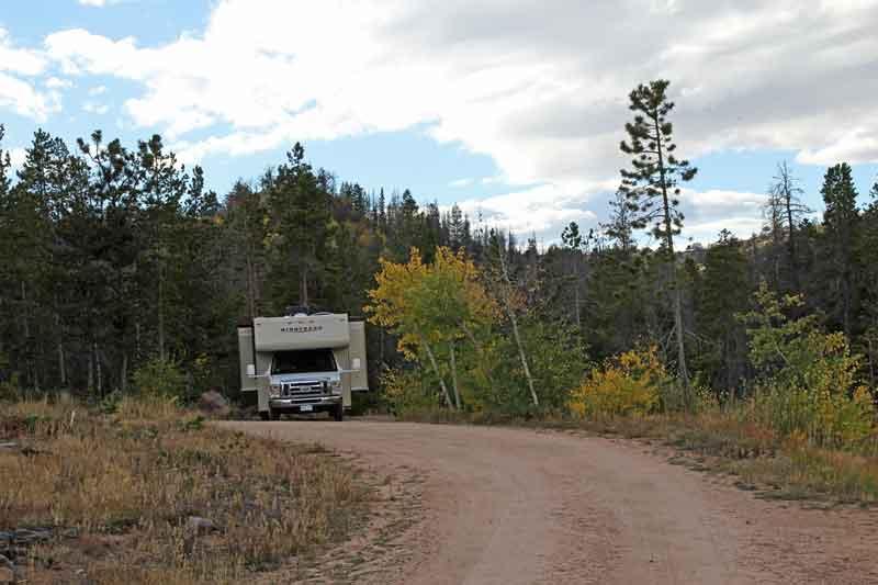 Bild 20 Unser Stellplatz auf dem Yellow Pine Campground