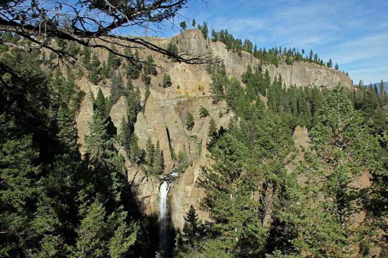 Bild 7 Yellowstone, Frühstückspause an den Tower Falls