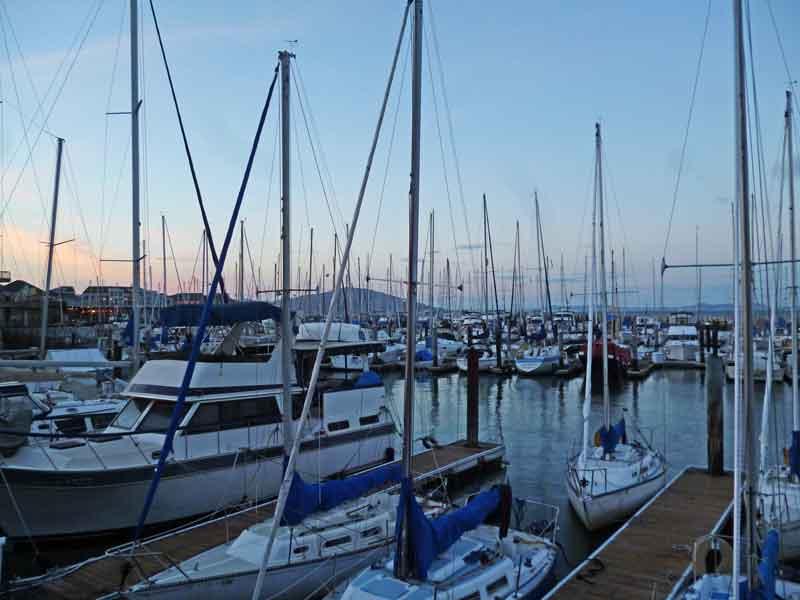 Bild 25 Blick auf den Bootshafen am Pier 39 in San Francisco