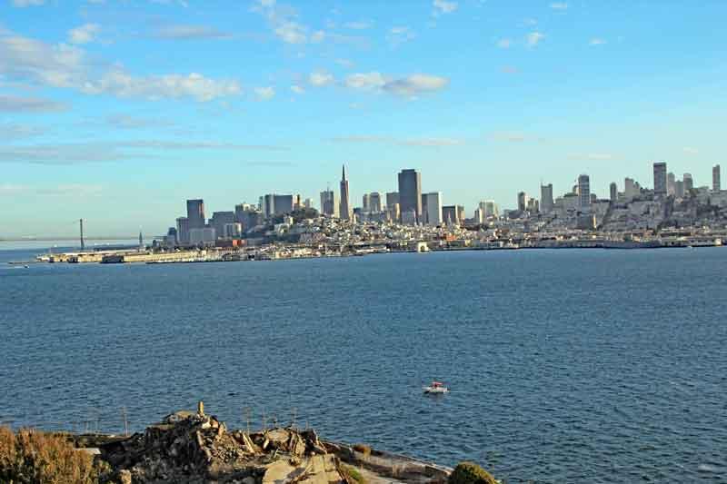 Bild 34 Blick auf San Francisco von Alcatraz