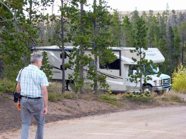 Bild 22 Unser Stellplatz auf dem Yellow Pine Campground