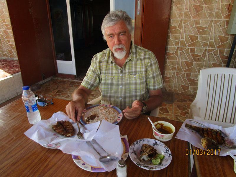 Bild 19 Das Restaurant in einem kleinen Ort wo wir es uns schmecken lassen