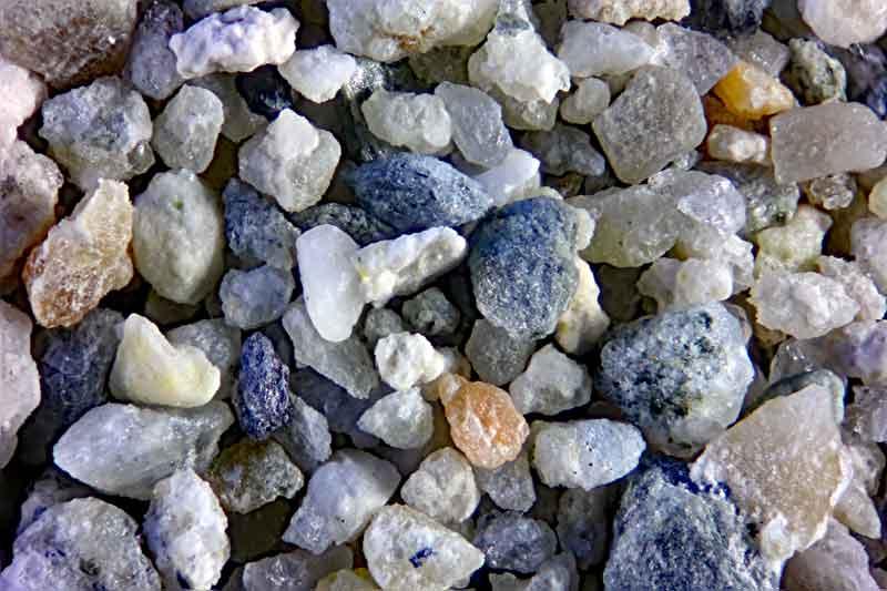 Bild 1 Sand aus Schlämmprobe aus Casas de Panes, Spanien