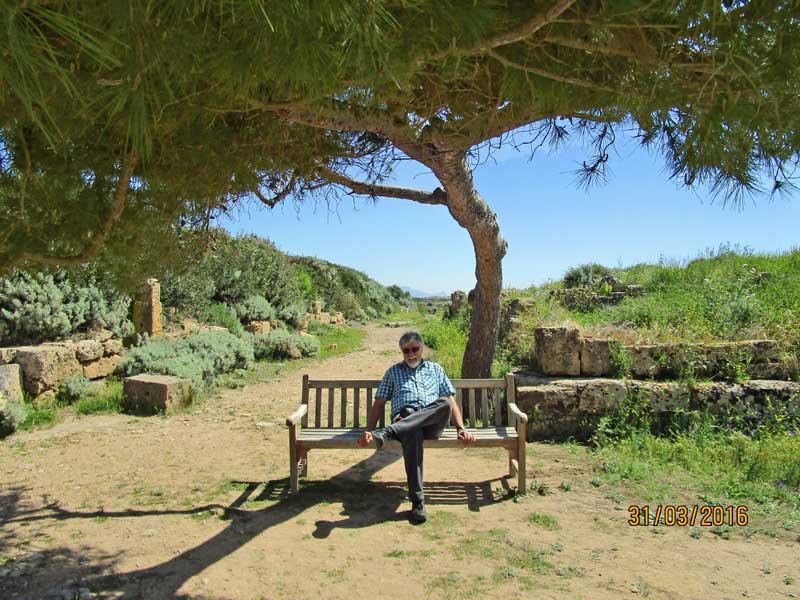 Pause in der Tempelanlage von Selinunte