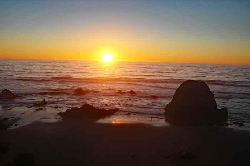 Bild 34 Sonnenuntergang beobachtet mit Sundowner