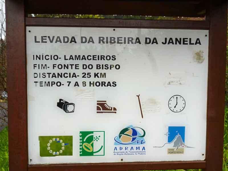 Bild 4 Unterwegs auf der Levada da Ribeira