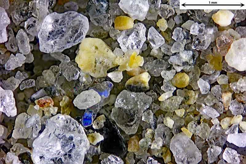 Bild 3 Sand von einem Strand Nähe St. Tropez, Frankreich