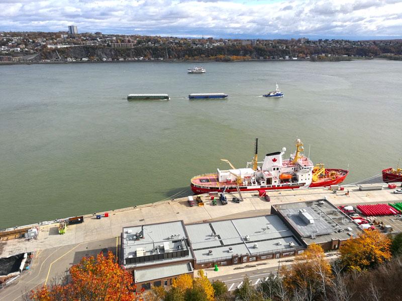 Bild 58 Bummel durch Quebec, Blick auf den St. Lorenz
