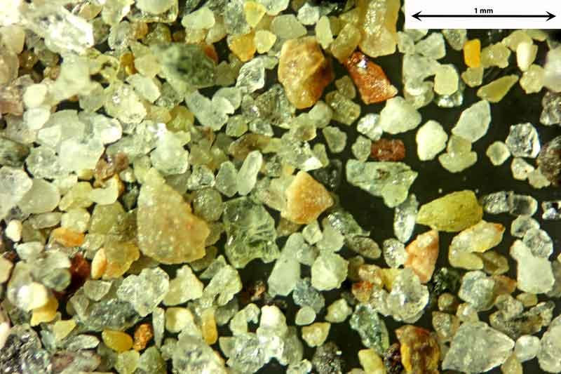 Bild 2 Sand aus Chioggia/Italien vom Badestrand, Objektiv Zeiss Plan 2,5/o,o8 Auflicht