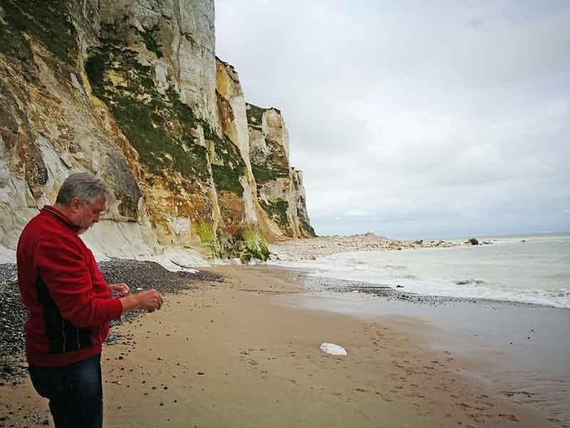 """Bild 16 An der Steilküste von """"Le Treport"""""""