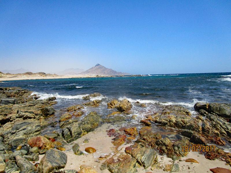 Bild 5 Pause und Füße baden auf dem Weg in Richtung Muscat