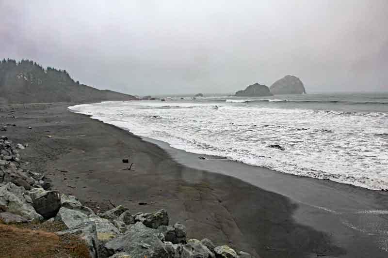 Bild 1 In Kalifornien weiter nach Eureka, an der Küste leider bei regnerischem Wetter