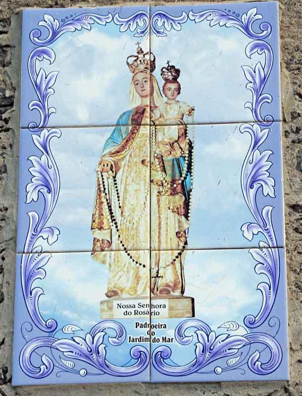 Bild 3 Muttergottesbild in den Gassen von Jardim do Mar