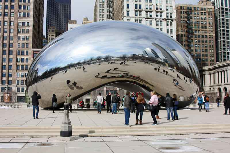 Bild 6 The Bean im Millenium Park in Chicago