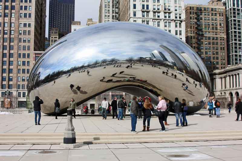 Bild 6 The Bean im Millenium Park in Chicago