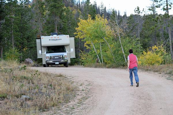 Bild 21 Unser Stellplatz auf dem Yellow Pine Campground