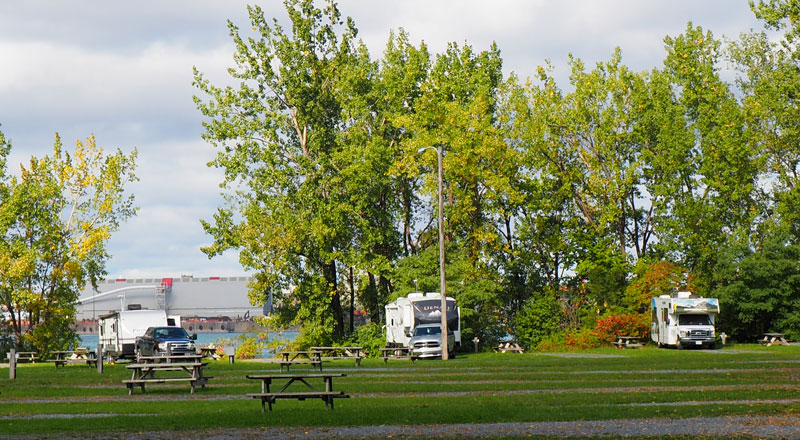 Bild 1 Morgens auf dem Campground