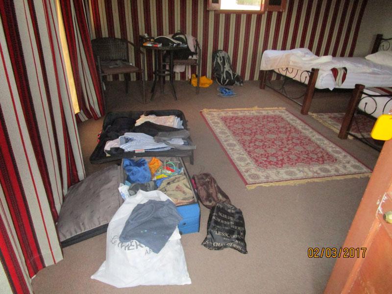 Bild 7 Unser Hüttchen für eine Nacht im 1000 nights camp in der Wahiba Wüste
