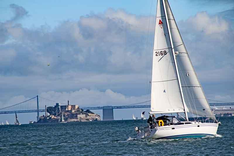 Bild 42 An der Promenade in Sausalito, Blick auf Alcatraz