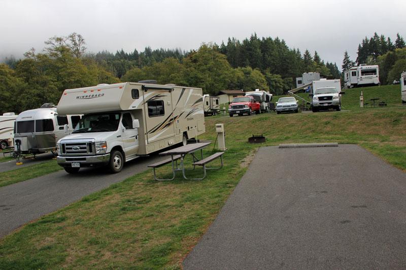 Bild 23 Unser Stellplatz für heute auf dem Salt Creek Campground