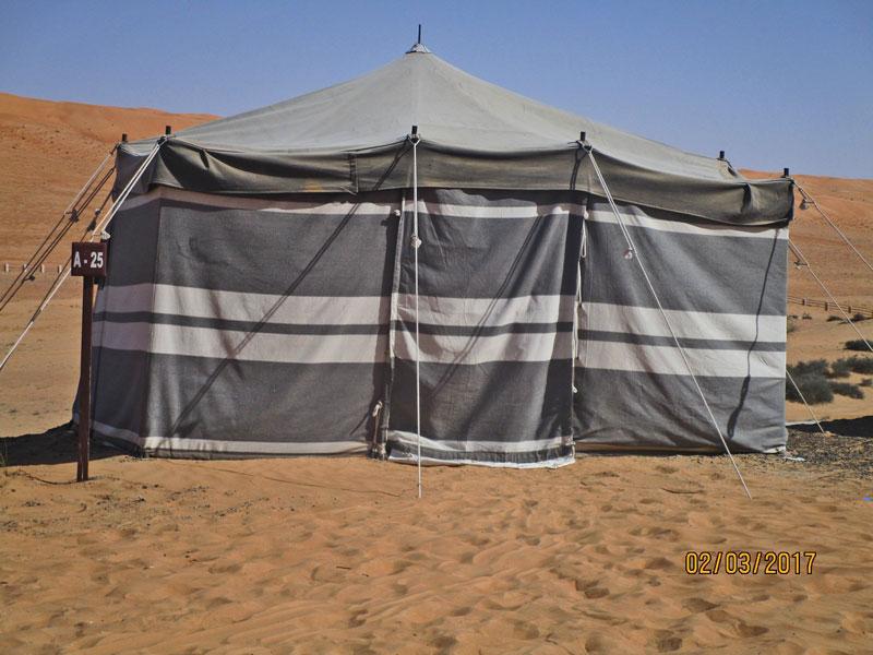 Bild 5 Arabis Tent im 1000 nights Camp von außen