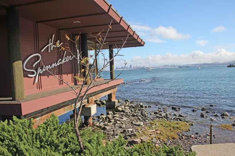 Bild 45 An der Promenade in Sausalito, Restaurant zum Spinnacker, hier lassen wir es uns schmecken