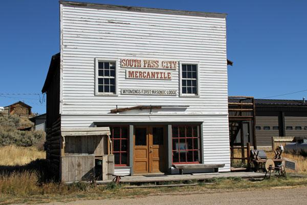 """Bild 6 Besichtigung des alten Bergbauortes """"South Pass City"""""""