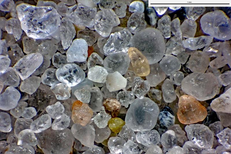 Bild 3 Sand aus Helgoland, Reede vom Strand