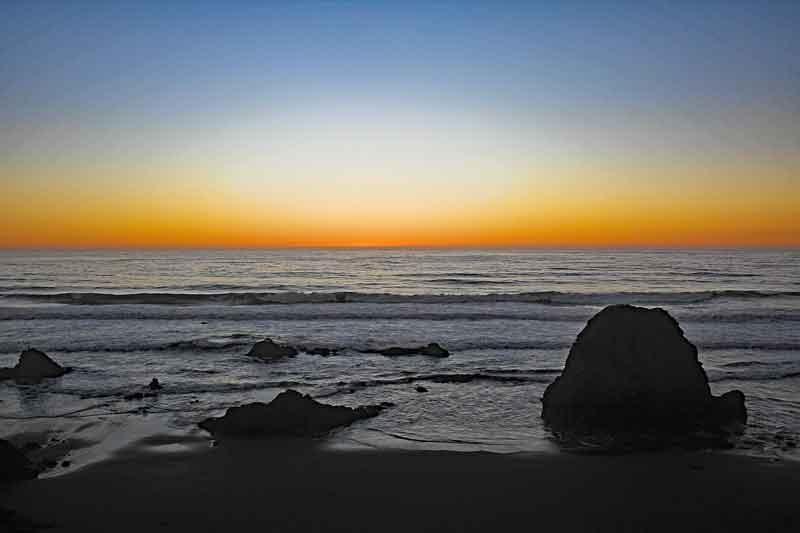 Bild 37 Sonnenuntergang beobachtet mit Sundowner