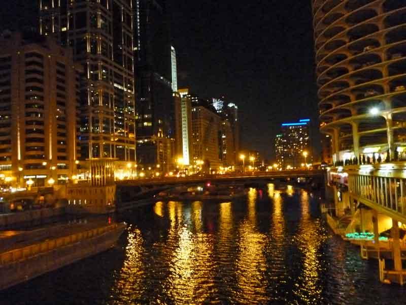 Bild 13 Chicago bei Nacht