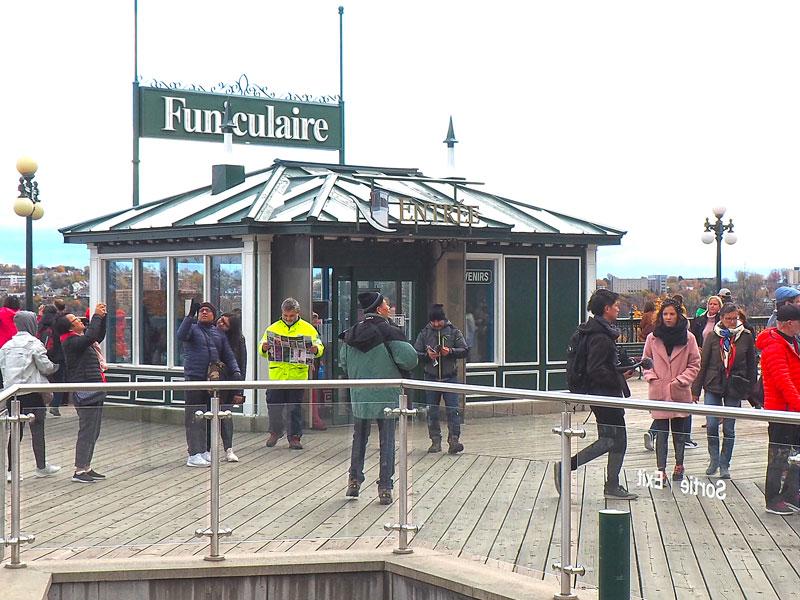 Bild 22 Blick auf den Funiculaire oben von Quebec