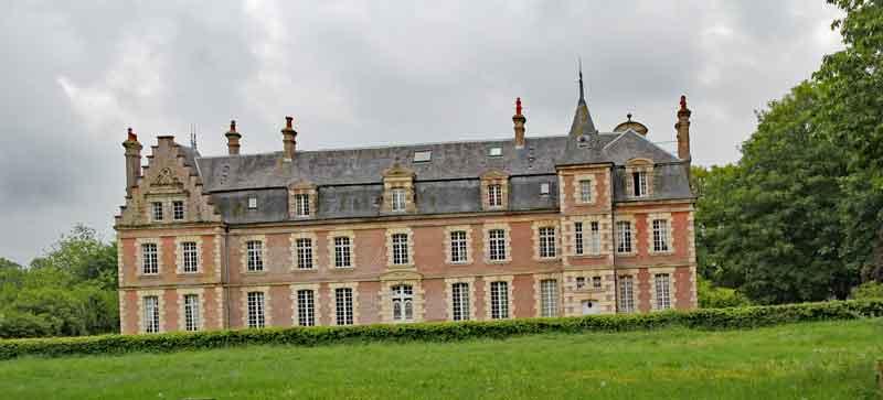 Bild 2 Das Chateaux de Behen von der Rückseite