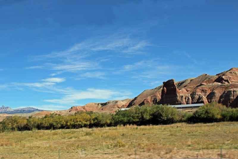 Bild 1 Auf dem Weg zum Grand Teton Nationalpark in den Rocky Mountains