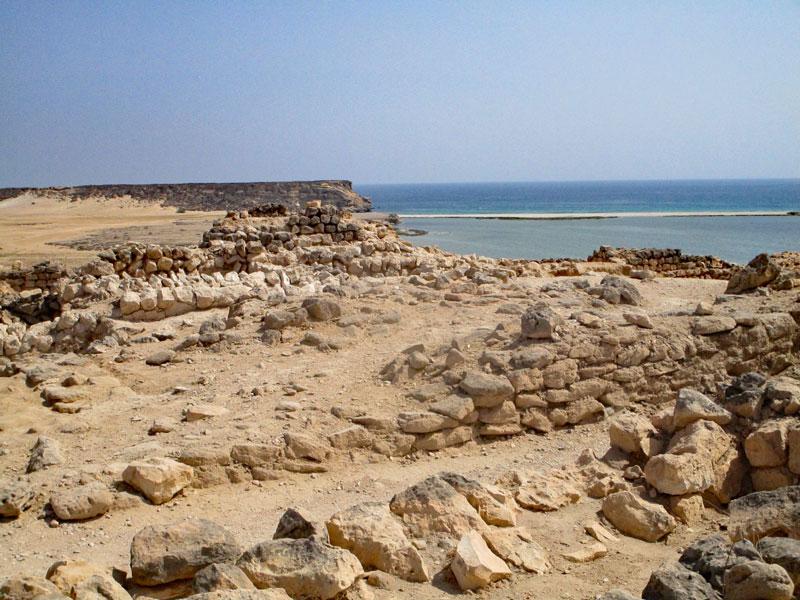 Bild 18 Blick auf die Ausgrabungen in Samhuram (Khor Rori)