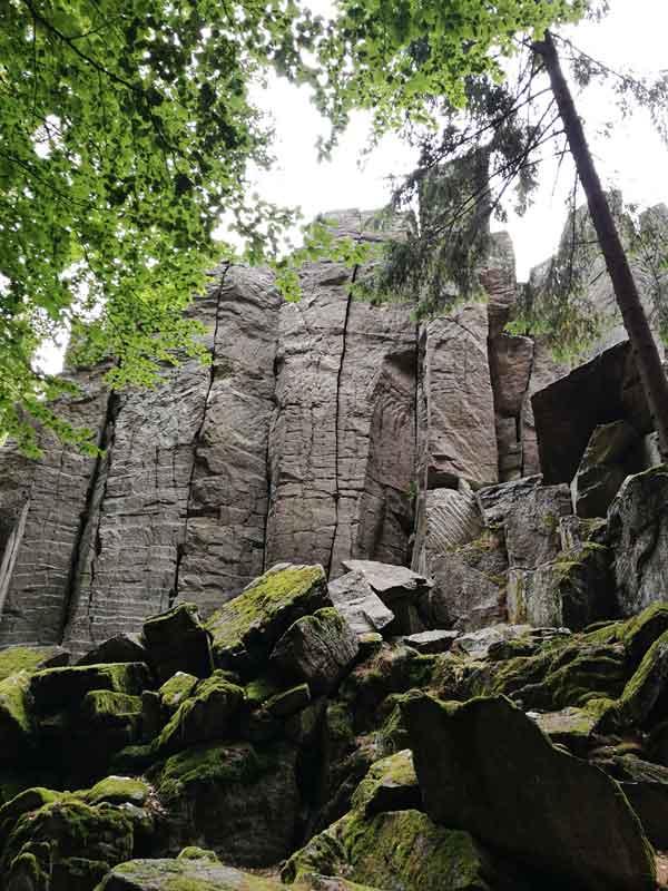 Bild 3 Felsformationen in der Steinwand
