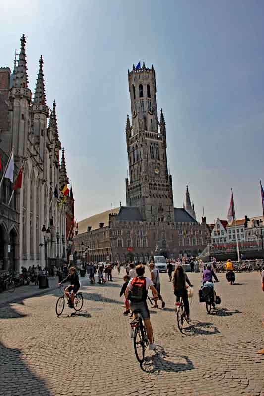 Bild 42 Am Marktplatz von Brügge