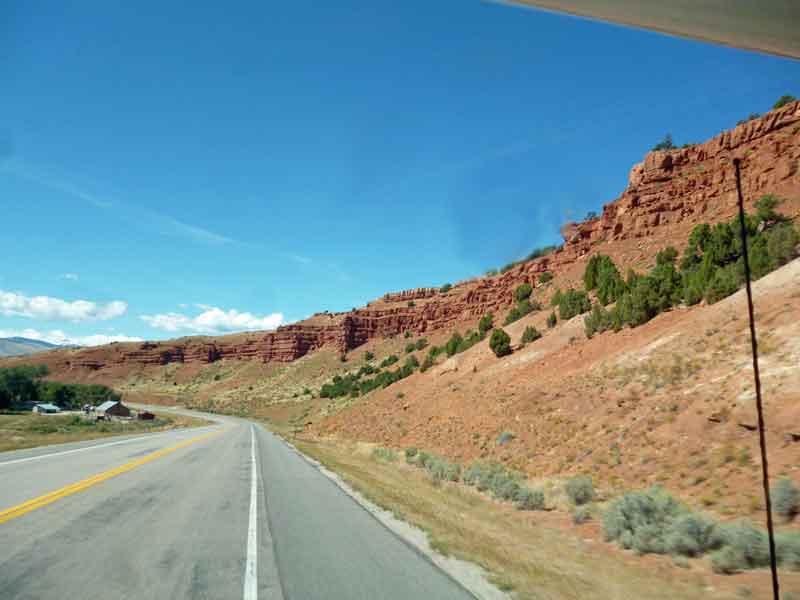Bild 4 Unterwegs nach Westen durch eine wunderschöne Landschaft, fast ohne Verkehr