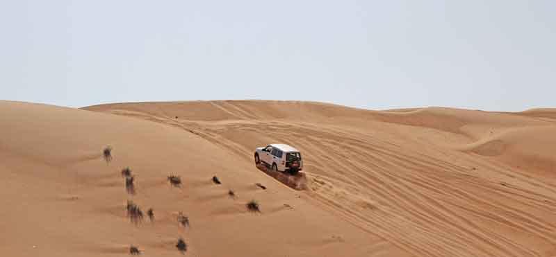 Bild 6 Fahrtraining in der Wüste