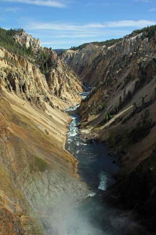 """Bild 17 Yellowstone, am Yellowstone """"Grand Canyon"""""""