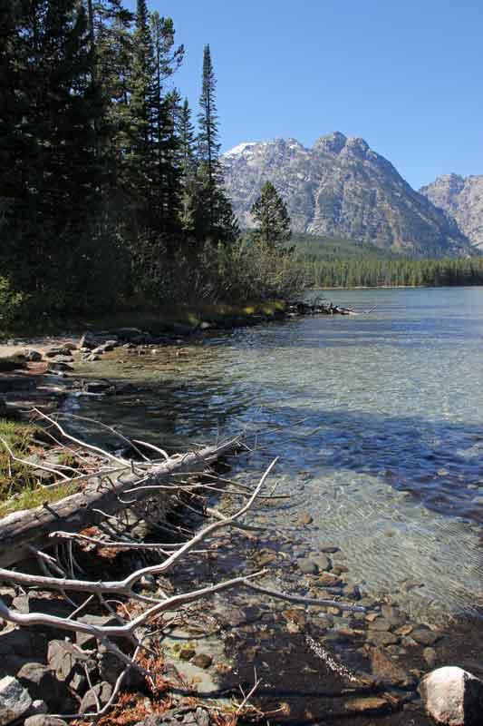 Bild 15 Der Pfad führt immer am Leigh Lake entlang, bis zu seinem Ende.
