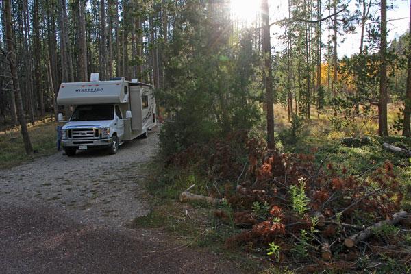 Bild 5 Auf dem Spring Hill Campground bei Anaconda in Monatana