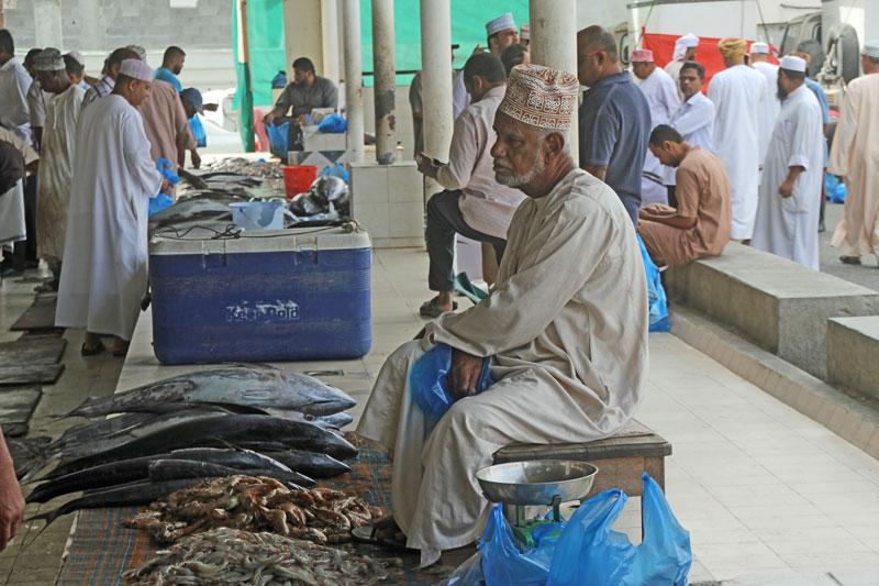Auf dem Fischmarkt in Muthrah, Oman 2017