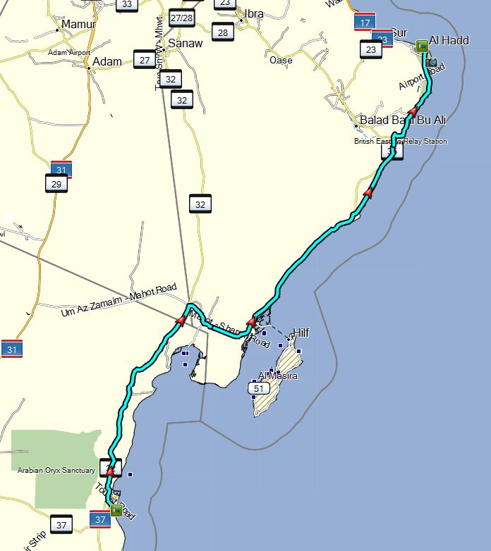 Bild 23 Unsere Fahrtstrecke von heute - Kartenquelle: © OpenStreetMap-Mitwirkende