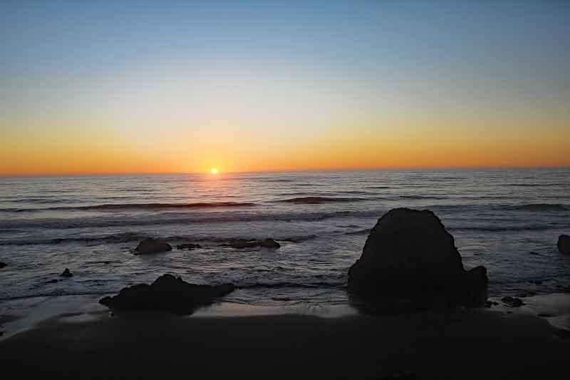 Bild 36 Sonnenuntergang beobachtet mit Sundowner