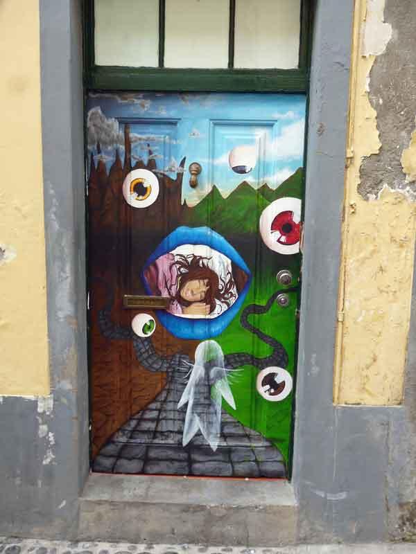Bild 49 Tolle Haustürbemalungen in Funchal