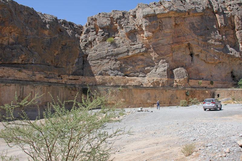 Bild 27 Einfahrt zum Wadi Tanuf