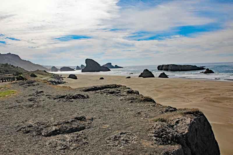 Bild 12 Immer wieder tolle Blicke auf die Küstenlandschaft in Oregon