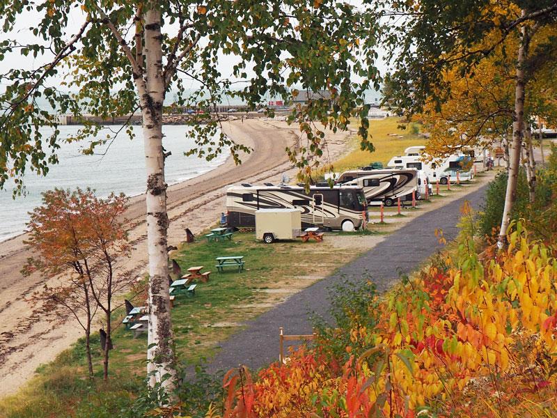 Bild 12 Blick auf den St. Simeon Campground